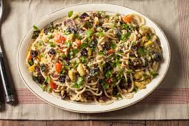 Roasted Vegetable Recipes by Spaghetti With Roasted Vegetables Pine Nuts And Olives Recipe