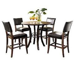 hillsdale cameron dining table hillsdale cameron 5pc ctr ht rnd dining set w parson chairs dining