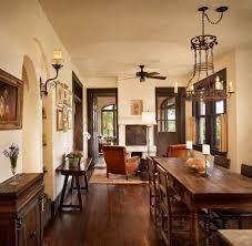 Rustic Mediterranean Kitchen Rustic Chandeliers Dining Room Mediterranean With Dark Brown Door