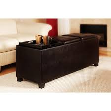 Leather Storage Bench Faux Leather Storage Benches Furniture Walmart Leather Bench With