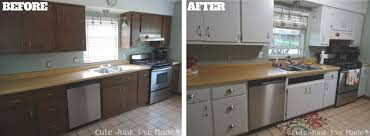 Painted Kitchen Cabinets Before And After Pictures How To Paint Laminate Cabinets Before U0026 After Use Old Kitchen