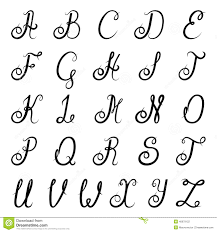 calligraphy alphabet black stock vector image 40679122