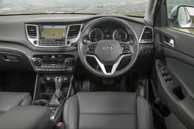 audi q3 dashboard first drive review hyundai tucson 2015
