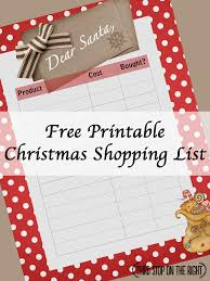christmas shopping list keep track of christmas shopping with this free printable shopping