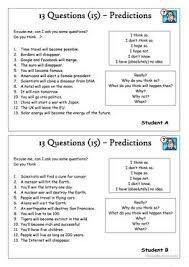 32 free esl predictions worksheets