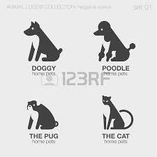 farm animals logos negative space style design vector templates