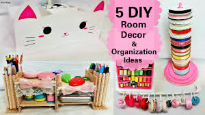 Diy Desk Organizer Ideas 5 Diy Room Decors And Organization Ideas Diy Animal Storage Box