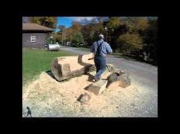 how to make quick a log bench youtube