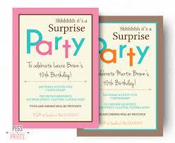 surprise birthday invitation printable surprise birthday