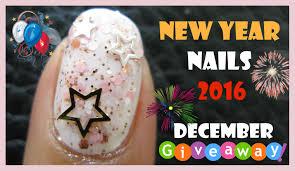 new years eve glitter nails 2016 hollow stars nail art design