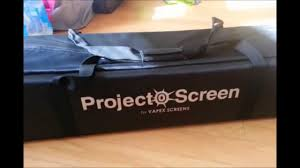 review of our outdoor projection screen youtube