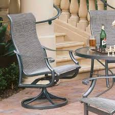 Swivel Patio Dining Chairs Tropitone Montreux Ii Swivel Patio Dining Chair Reviews Wayfair