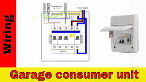 how to wire rcd in garage shed consumer unit uk consumer unit