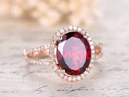 halo rings red images 8x10mm oval cut natural red garnet ring diamond halo engagement jpg