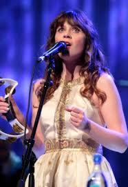 zooey deschanel u0027s white and gold dress on the she and him tour