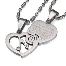 couples heart necklace images Couples heart musical note necklace set artistic pod jpg