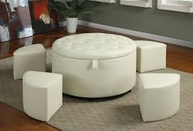 Leather Ottoman Storage Furniture Red Velvet Storage Ottoman Which Is Having Rounded