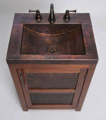 thompson traders vts petit rustic bathroom vanity u0026 copper sink