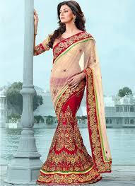Red Bridal Dress Makeup For Brides Pakifashionpakifashion Latest Designer Saree Styles For Women 2016 Pakifashionpakifashion