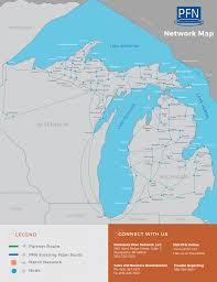 Map Of The Upper Peninsula Michigan by Peninsula Fiber Network