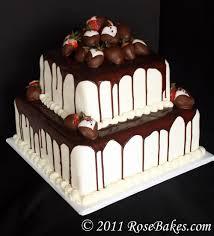 black u0026 white wedding cake