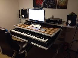 bureau home studio personnalisé montage desk studio fait a v audio vidéo
