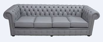 Grey Leather Chesterfield Sofa Buy Silver Grey Leather Chesterfield Sofa Uk Designersofas4u