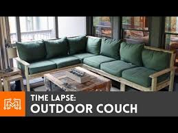 time lapse outdoor couch build youtube