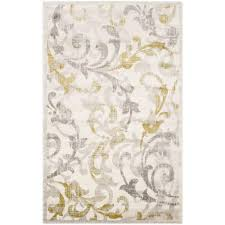 Yellow And Gray Outdoor Rug Safavieh Amherst Ivory Light Gray 4 Ft X 6 Ft Indoor Outdoor