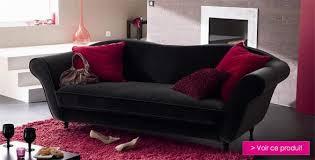 canapé velours noir canapé velour intérieur déco