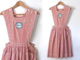 pinafore apron etsy vintage candy striper dress volunteer nurse uniform jumper pinafore apron