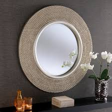 wall hanging mirrors next day delivery wall hanging mirrors from yearn cantal 79cm wall mirror in silver sticker