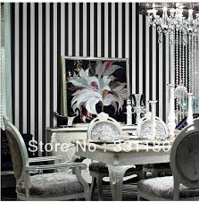 Striped Wallpaper Bathroom Black And White Vertical Stripes Wallpaper Roll Paper Wall Living