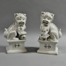 foo lions for sale pair of blanc de chine foo lions sale number 2873m lot number