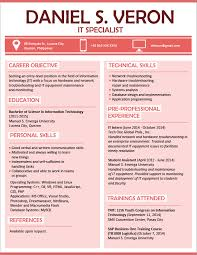 Example Format Of Resume by Resume Templates You Can Download Jobstreet Philippines