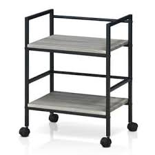 industrial iron wood kitchen trolley natural black buy kitchen brown kitchen carts for less overstock com