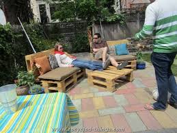 Diy Wood Pallet Outdoor Furniture by Patio Furniture From Pallet Wood Recycled Things