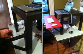 Cubicle Standing Desk 10 Ikea Standing Desk Hacks With Ergonomic Appeal