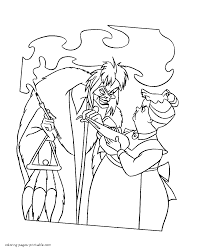 coloring pages cruella de vil of disney story