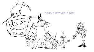 Halloween Colouring Printables Oggy Halloween Coloring Pages 0 Jpg