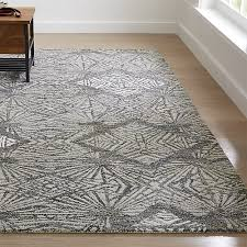 Modern Gray Rug Virna Modern Botanical Rug Crate And Barrel