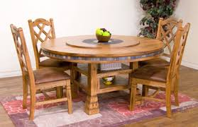 lazy susan dining table sedona 60 round dining table w lazy susan by sunny designs