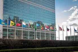 siege des nations unis drapeaux aux siège des nations unies york etats unis image