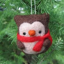 needle felted owl ornament whimsy woolies
