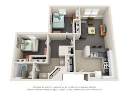 Floor Plan Of An Apartment Volunteer Hall University Housing