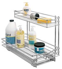 kitchen sink cabinet caddy pull out sink organizer chrome in pull out baskets