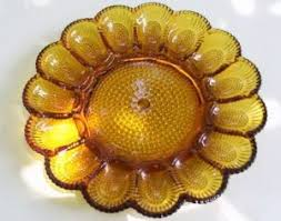 glass egg plate vintage or egg plates
