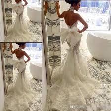 pallas couture 2017 lace floral long train mermaid beach wedding