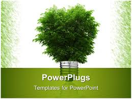 powerpoint template tree tiles showing the flow of renewable
