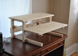 stand up desk multiple monitors contemporary stand up desk plans regarding diy project plan two